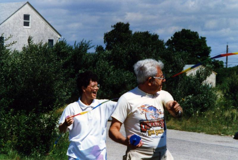 Jack Gardiner & Holly in Rhode Island flying kites