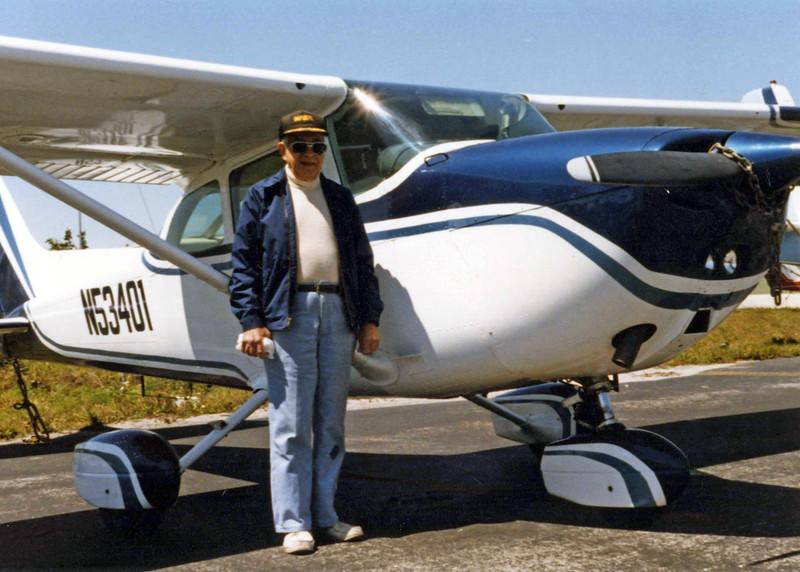Jack Gardiner w/ his Cessna
