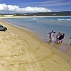 On Fraser Island with the Sunshine Coast Jeep Club. Col in grey on left. His KJ wagon in front.