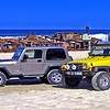 Our Jeeps on Fraser Island at the Wahu wreck