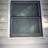 Bathroom window prior to repairs