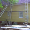 Day 9 - East Wall Siding and Trim Completed