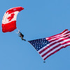 Canadian & USA flags Opening Jump