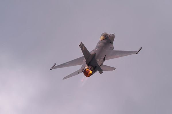 F-16 Fighting Falcon On After Burner