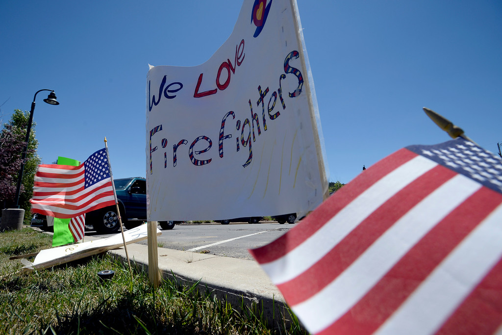 . People of Nederland have put up firefighter support signs all over the area. For more photos and a video, go to www.dailycamera.com. Cliff Grassmick  Staff Photographer  July 14, 2016