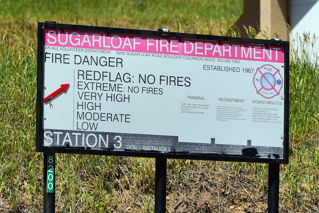 . Extreme fire danger is still in effect on Sugarloaf on July 14th. For more photos and a video, go to www.dailycamera.com. Cliff Grassmick  Staff Photographer  July 14, 2016