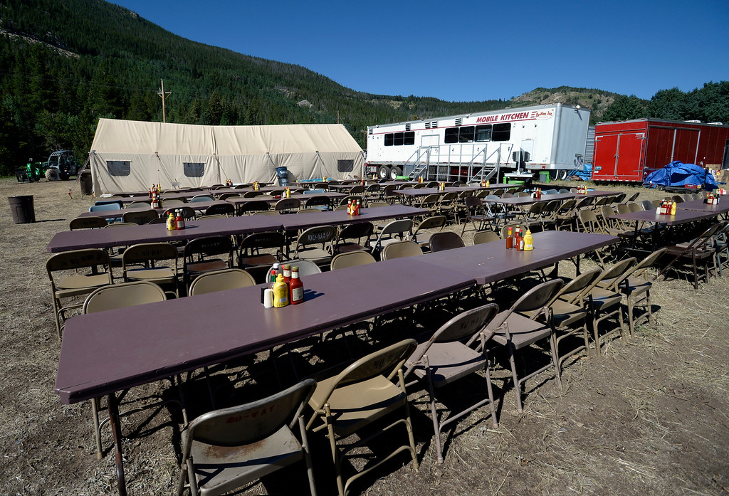 . The dining area for the firefighters at the main support camp. For more photos and a video, go to www.dailycamera.com. Cliff Grassmick  Staff Photographer  July 14, 2016