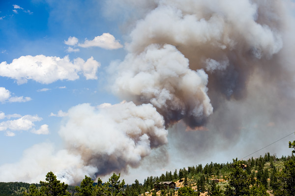 "The fire continues to burn in Cold Springs in Nederland on Sunday. More photos:  <a href=""http://www.dailycamera.com"">http://www.dailycamera.com</a><br /> (Autumn Parry/Staff Photographer)<br /> July 10, 2016"