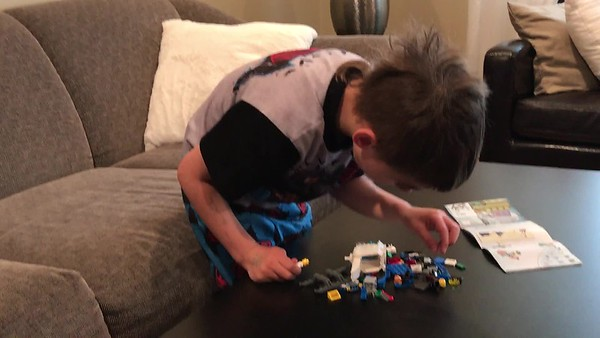 Cole and his Lego