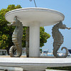 The Seahorse Fountain Overlooking The Naval Station