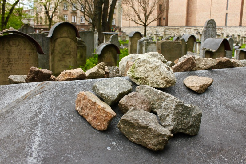 cemetery at the Old Synagogue in Krakow, Poland