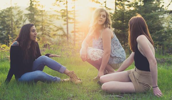 Kayla, Ashlee, and Kanchan