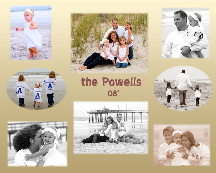 Collages from your beach sitting make great gifts and remember we custom frame also!