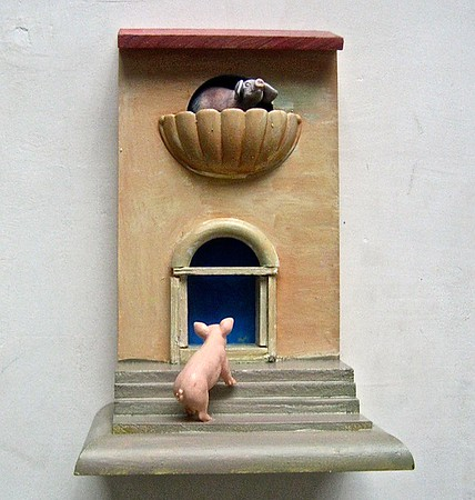 Gysse under Julie´s balkon i Verona