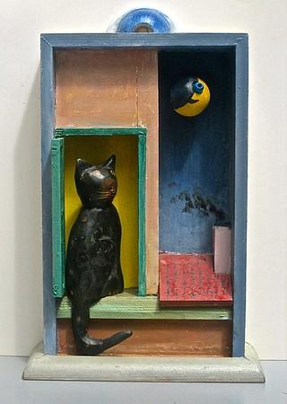 Katten ser på månen