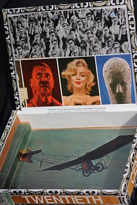 "Look ""Inside the 20th Century"" Box =SOLD= Lid Women Binoculaurs Marilyn /Automoton/Hitler"