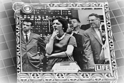 "Cover ""Women in the Stock Market"" Collage 1962 LIFE Magazine 2016 mburgess =SOLD="