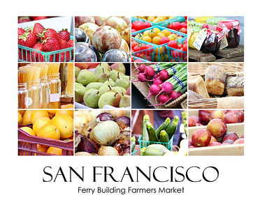 San Francisco Farmers Market Collage