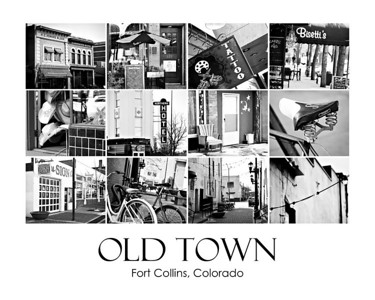 Old Town Black and White Collage #1