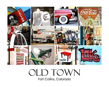 Old Town Color Collage #1