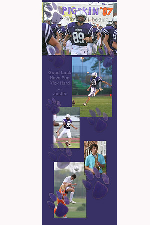 Justin Smith senior football locker poster