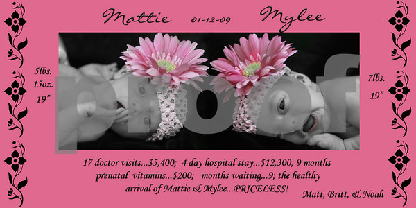 Mylee & Mattie Announcement