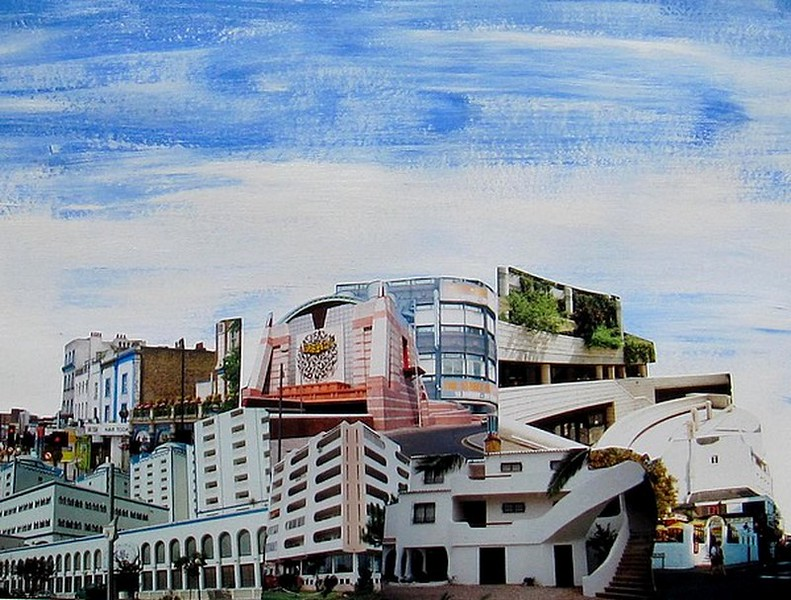23 - White Palace,  2014, mixed media collage, 34x41 cm