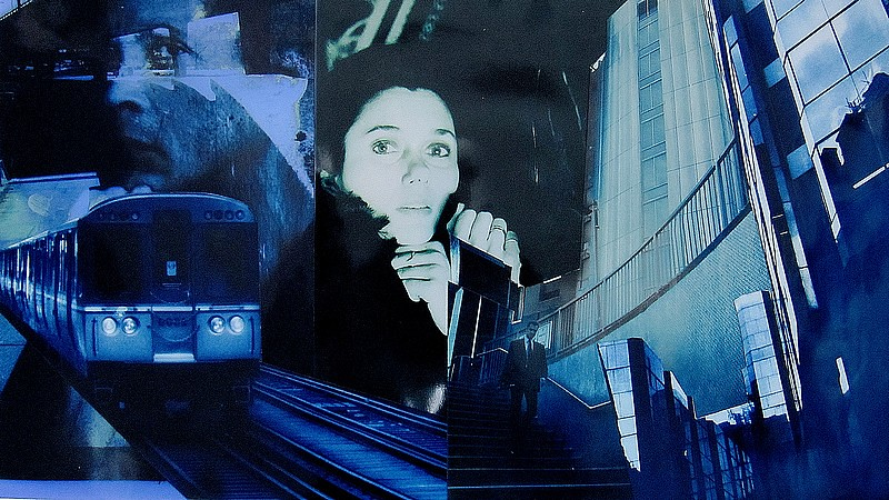 06 - Midnight train, 2011, collage with  hand coloured silver gelatin  prints, 22x41cm