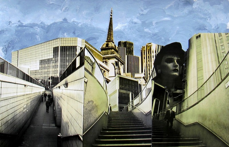 07 - Urban chaos 3, 2011, collage with hand coloured montaged silver gelaitin prints, 31x43cms