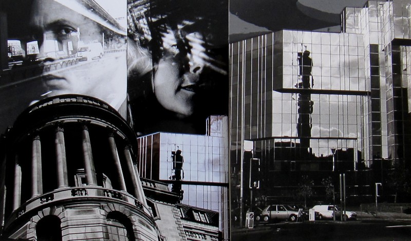 03 - Twin reflections confuse the sense of direction, 2011, collage with B/W silver gelatin prints, 23x36 cm