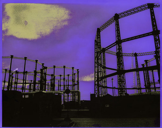 36 -  British Gas, 1993, hand colored silver gelatin print, 24x19cm