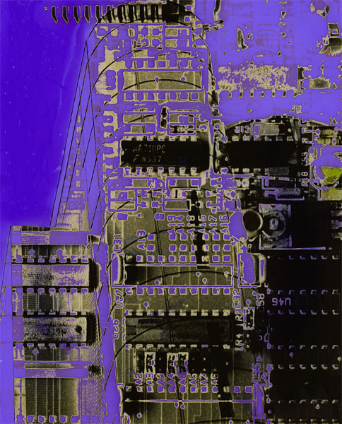06 - 'Virtual purple', 1993, hand colored montaged silver gelatin print, 20x25cm