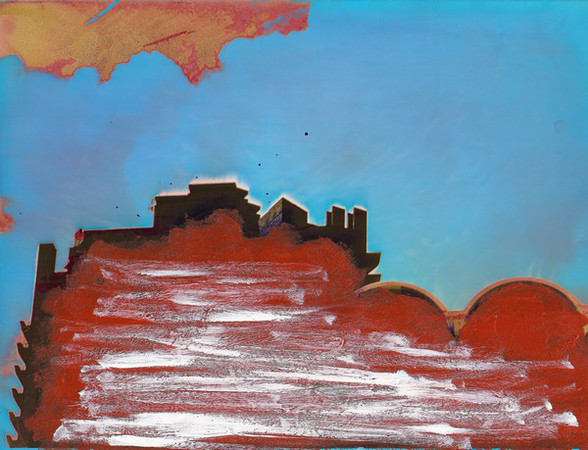 39 - 'Red cloud', 1990, 25x19cm