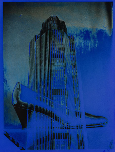 34 - 'Blue shoe', 1992,   hand colored montaged silver gelatin print, 18x24cm