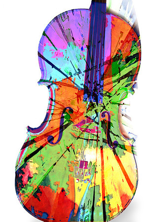 a bow sounds a cello's many colors