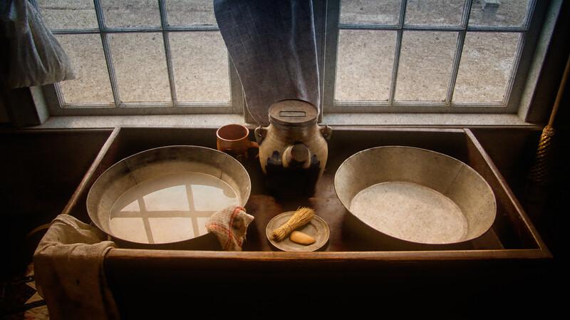 Dry Sink, Powell Farm, Old Bethpage Village, Long Island, Nassau County, New York