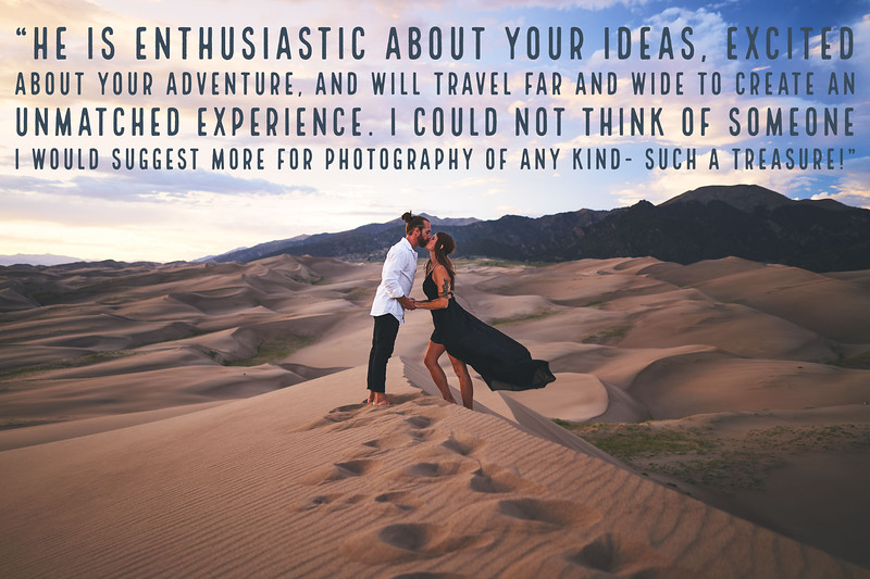Great Sand Dunes National Park Couples Engagement Photoshoot