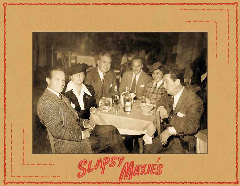 Slapsy Maxies with Bob Hope with cover