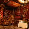 Interior of Galerie Ikman carpet gallery, Goreme, Cappadocia, Turkey.