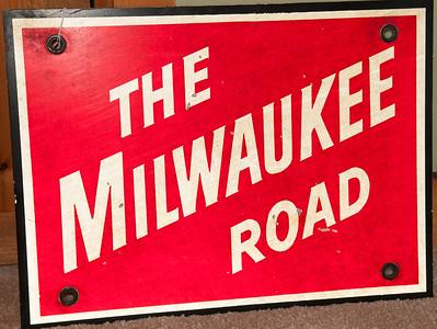 Milwaukee Road Sign