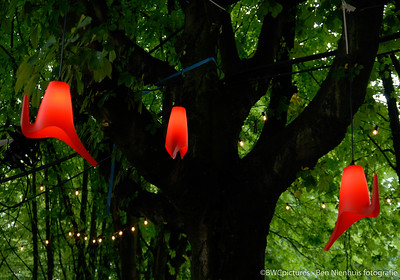 Gieters in de bomen