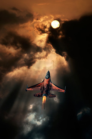 Superior | F16 Demo Team Volkel Afterburner- Rising to the Sun