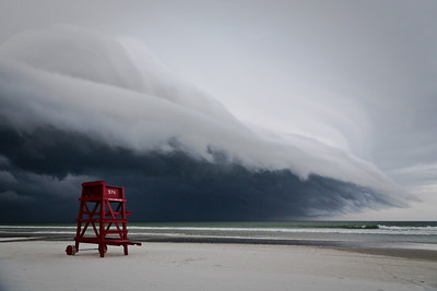 A storm rolls in over Ponce Inlet, Florida.