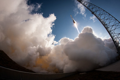 A United Launch Alliance Atlas V rocket lifts off from LC-41 at Cape Canaveral carrying the US Air Forces' Space-Based Infrared System (SBIRS) providing missile defense for the United States.