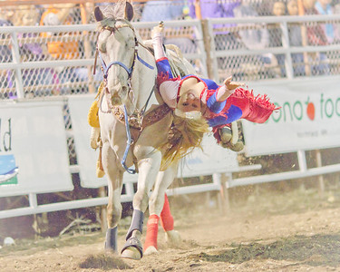 Rita Ranch Cowboy Girls at Defeat of Jesse James Days Rodeo