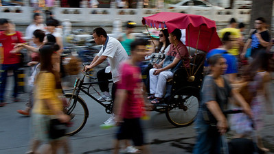 Bicycle Taxi in Beijing, China