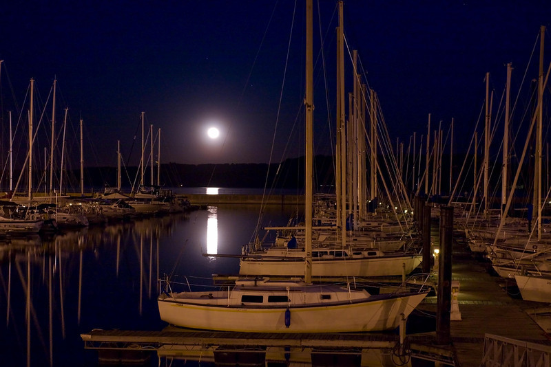 Moonrise in Lake City, Minnesota