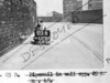 SK378805B, Man marking Ordnance Survey minor control revision point with an arrow in 1940s Sheffield