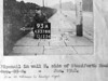 SK378893A, Man marking Ordnance Survey minor control revision point with an arrow in 1940s Sheffield