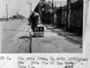 SK378821A, Man marking Ordnance Survey minor control revision point with an arrow in 1940s Sheffield